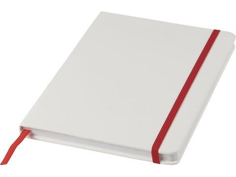 Wit A5 notitieboek met gekleurde sluiting