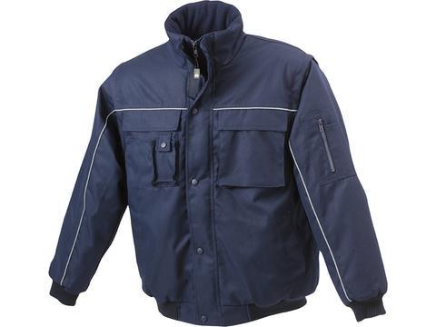 Workwear Jacket met Afritsbare Mouwen