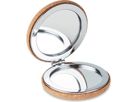 Mirror with cork cover