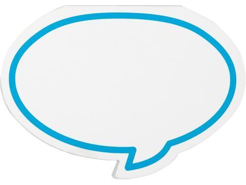 Zelfklevende memo's in vorm van tekst ballon