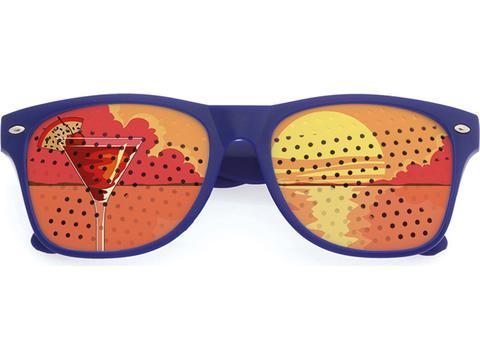 Bril met bedrukte glazen
