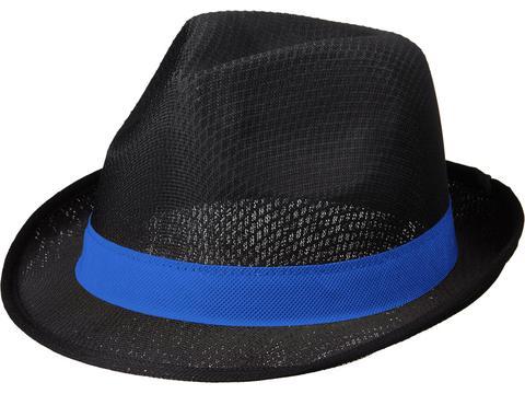 Zwarte Trilby hoed met gekleurd lint naar keuze