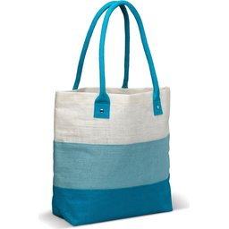 10_LT95012 jute tas blauw