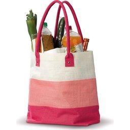 10_LT95012 jute tas roze gevuld