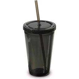 Drinkfles met rietje - 500ml bedrukken