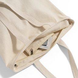 100% Katoenen Tas met rits Hackney -binnenzijde