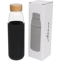 Glazen drinkfles met houten deksel - 540 ml