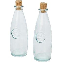 Tweedelige olie en azijnset gerecycled glas - 300 ml