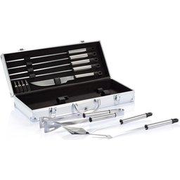 12-delige barbecue set koffer bedrukken