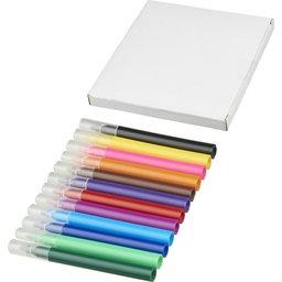 12 gekleurde markers