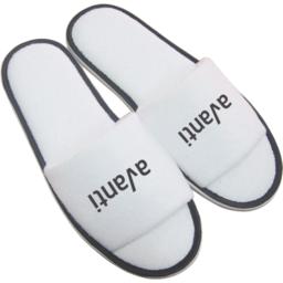 Paar slippers, open teen bedrukken