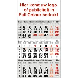 3-maandkalender Full colour bedrukt