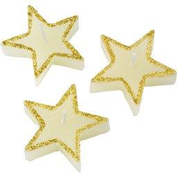 3 stervormige kaarsen