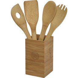 4-delige houten keukenset bedrukken