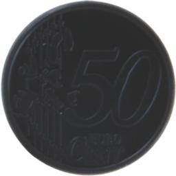 Sleutelhanger winkelwagenmunt met 0,50 euro muntje bedrukken
