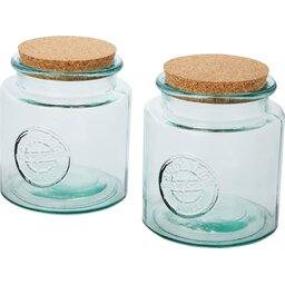 Aire tweedelige containerset van 1500 ml gerecycled glas