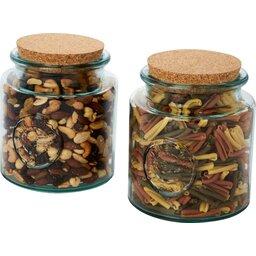 Aire tweedelige containerset van 1500 ml gerecycled glas bewaarpot
