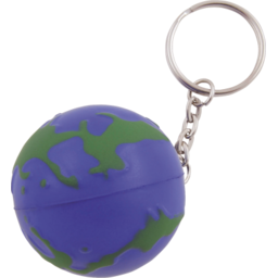 Anti-stress wereldbol met sleutelhanger bedrukken