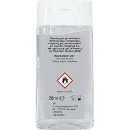 Antibacteriële Reinigingsgel Made in Europe 28 ml.-achterzijde