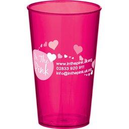 Arena Cup transparant pink