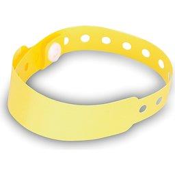 Armband met veiligheidssluiting geel