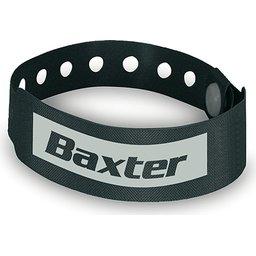 Armband met veiligheidssluiting zwart