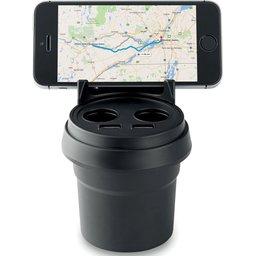 Autolader en smartphone houder bedrukken