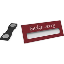Badge Jerry-Burgundy-74x30