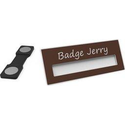 Badge Jerry-DarkBrown-74x30