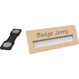 Badge Jerry-Taupe-74x30