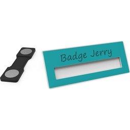 Badge Jerry-Turquoise-74x30