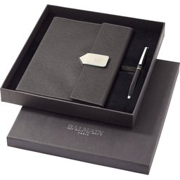 Balmain Charcoal notitieboek cadeau set