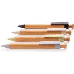 Bamboe pen met tarwestro clip -kleuren