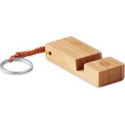 Bamboe telefoonstandaard sleutelhanger bedrukken