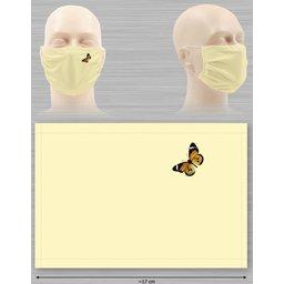 Bedrukken Wasbaar stoffen mondmasker met bedrukking naar keuze