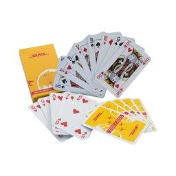 Bedrukt Kaartspel klassiek in kartonnen doosje