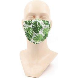 Bedrukt Wasbaar stoffen mondmasker met bedrukking naar keuze