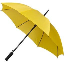 Bedrukte paraplu geel