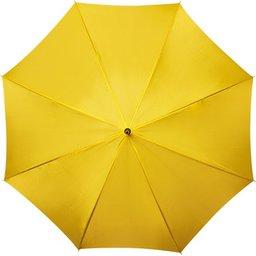 Bedrukte paraplu geel bedrukt