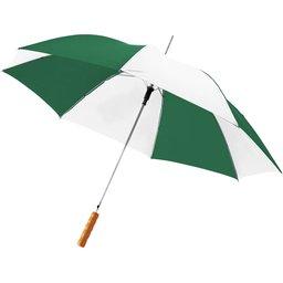 Bedrukte paraplu groen wit