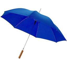 Bedrukte paraplu koningsblauw