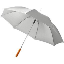 Bedrukte paraplu licht grijs