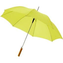 Bedrukte paraplu neon groen