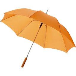 Bedrukte paraplu oranje