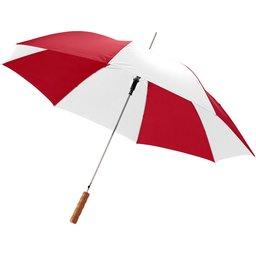 Bedrukte paraplu rood wit