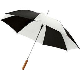Bedrukte paraplu zwart en wit