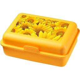 Bedrukte Schoolbox brooddoos geel