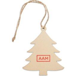 Boomhanger Kerstboom bedrukken