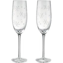 Cheers Xmas champagne glazen