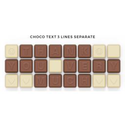 Chocoladetekst in gepersonaliseerde enveloppe - 24 letters